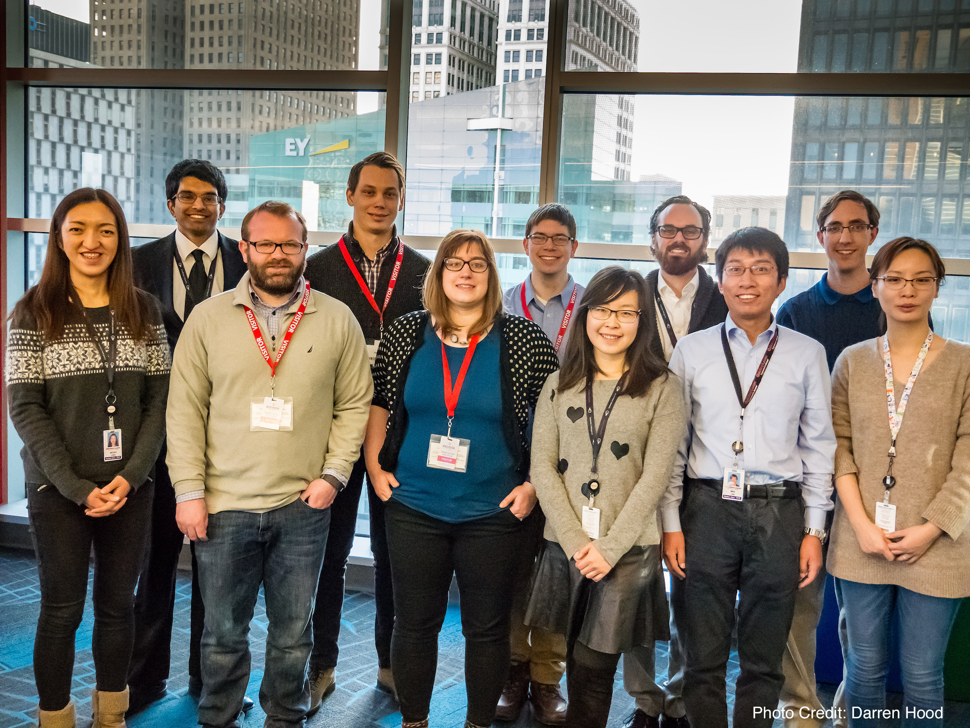 Student data science competition winners visit Quicken Loans